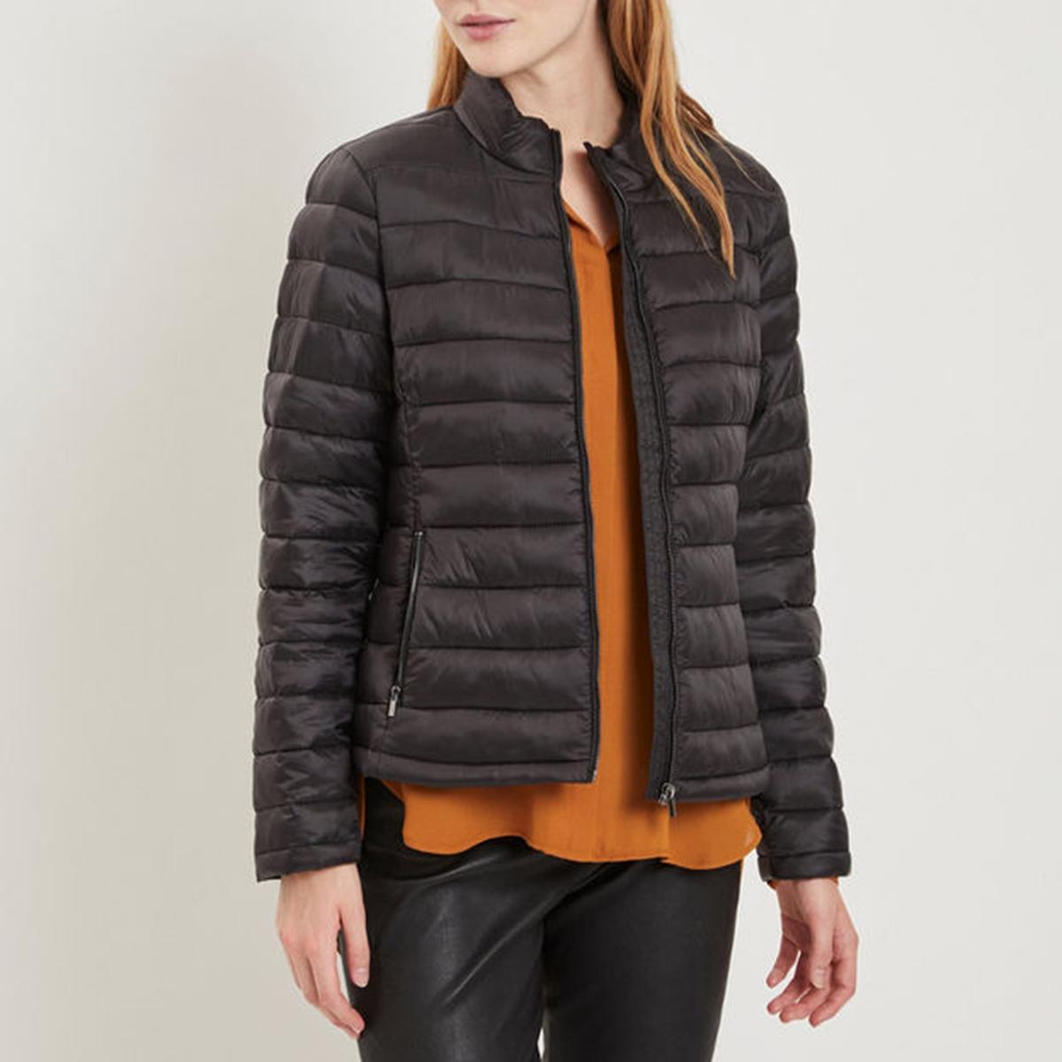 Куртка стеганая короткая приталенная куртка стеганая короткая с леопардовым принтом