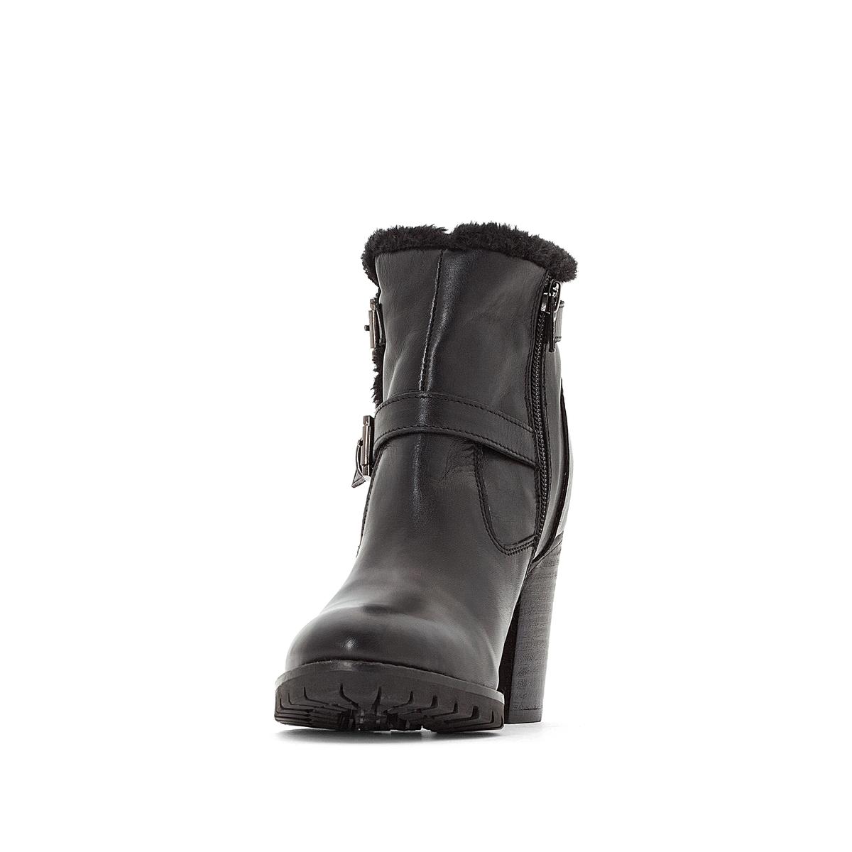 Imagen secundaria de producto de Botines de piel con tacones Skyllie - Kickers