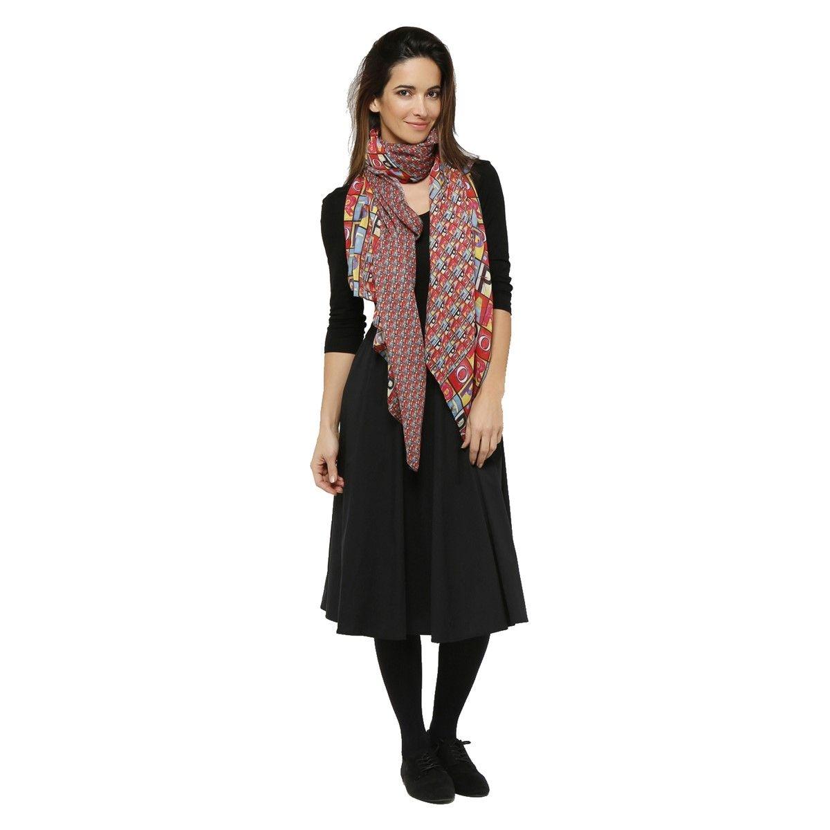 Foulard femme voile polyester