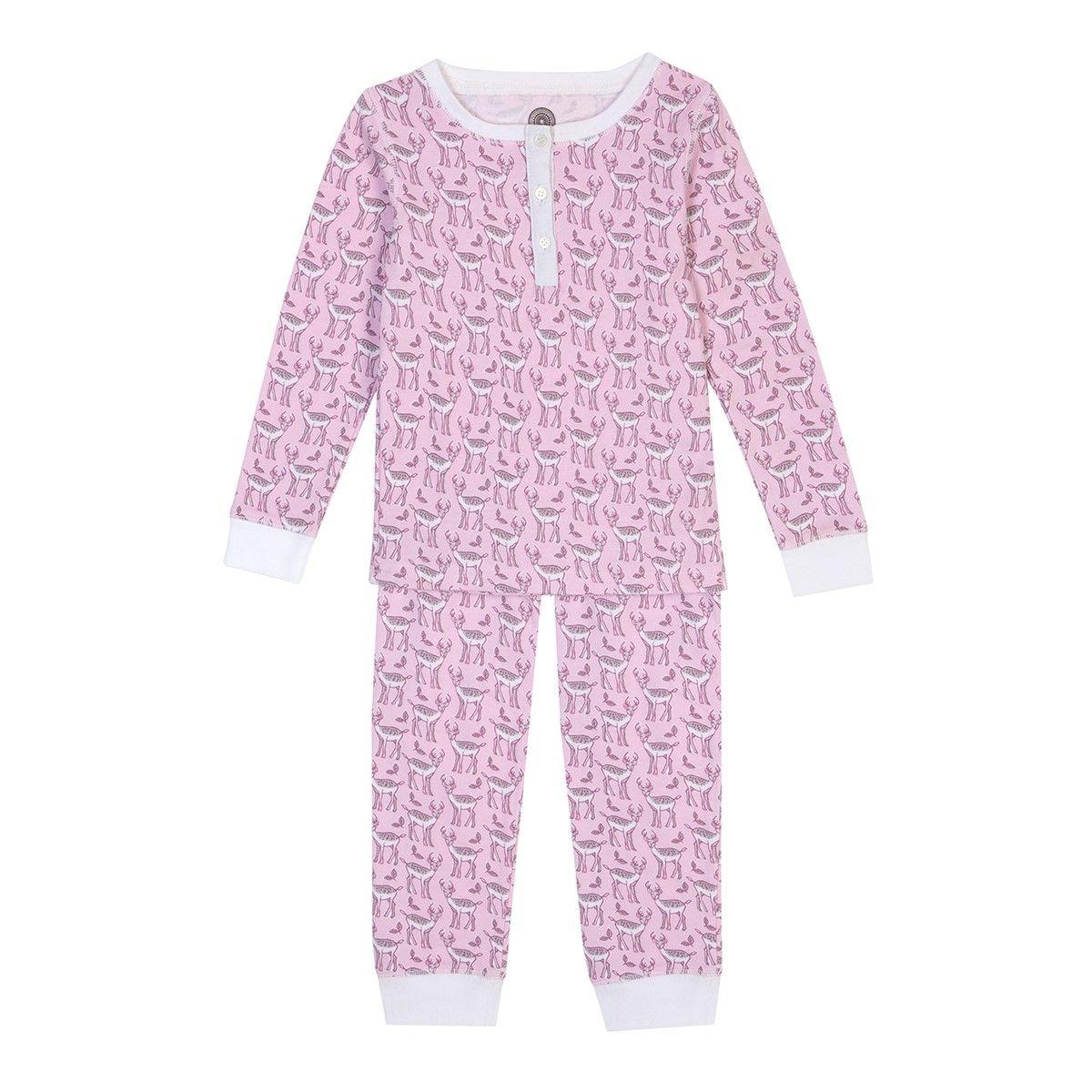 Pyjama fille en coton bio - Imprimé Cerf