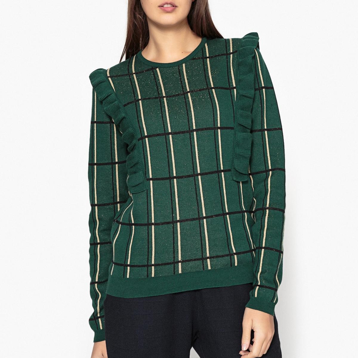 Пуловер из жаккардового трикотажа SE TENIR A CARREAUX