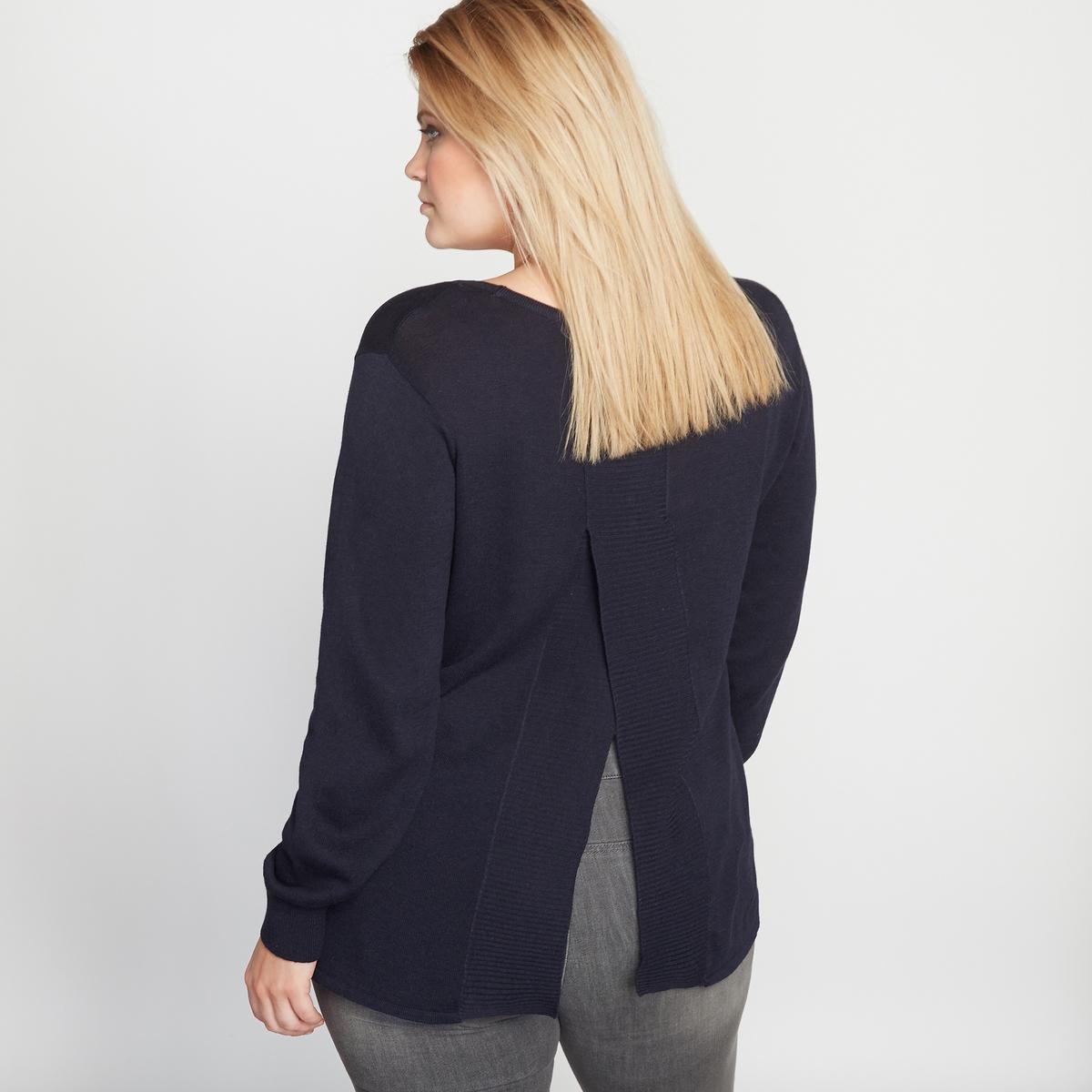 Пуловер с фантазийной  спинкой