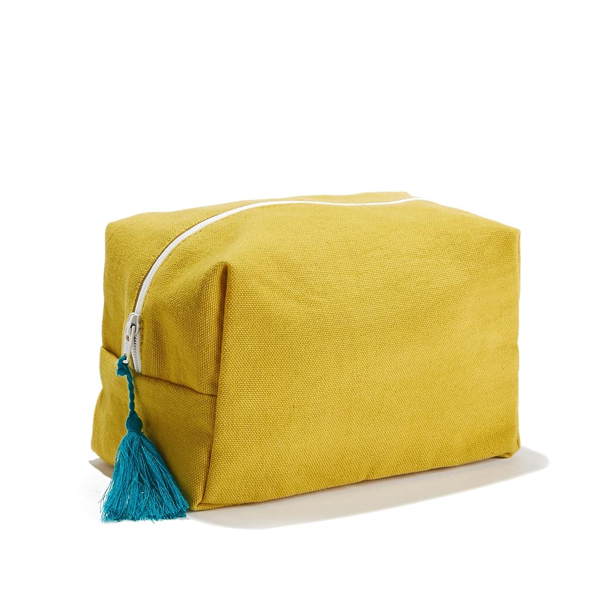 Косметичка LaRedoute POMPON единый размер желтый