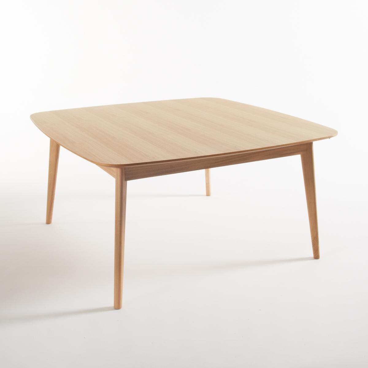 Стол La Redoute Дубовый квадратный на персон Biface 8 персоны бежевый стол la redoute с инкрустацией на персон mosaque 6 персоны бежевый