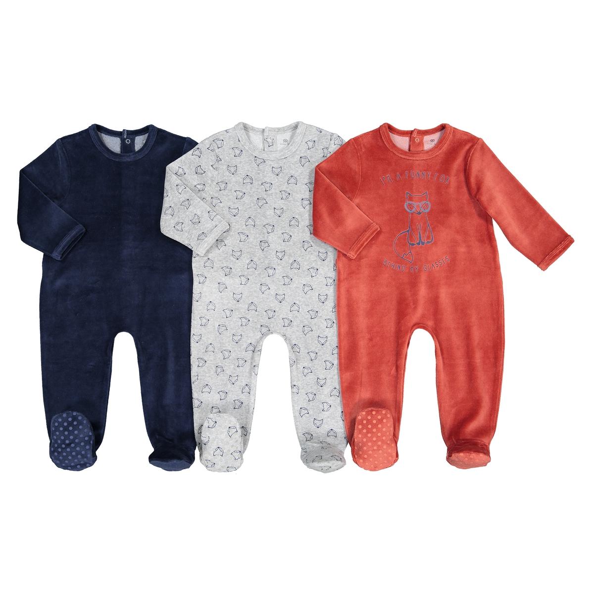 цена Комплект из пижам лиса La Redoute Из велюра мес - лет 3 года - 94 см каштановый онлайн в 2017 году