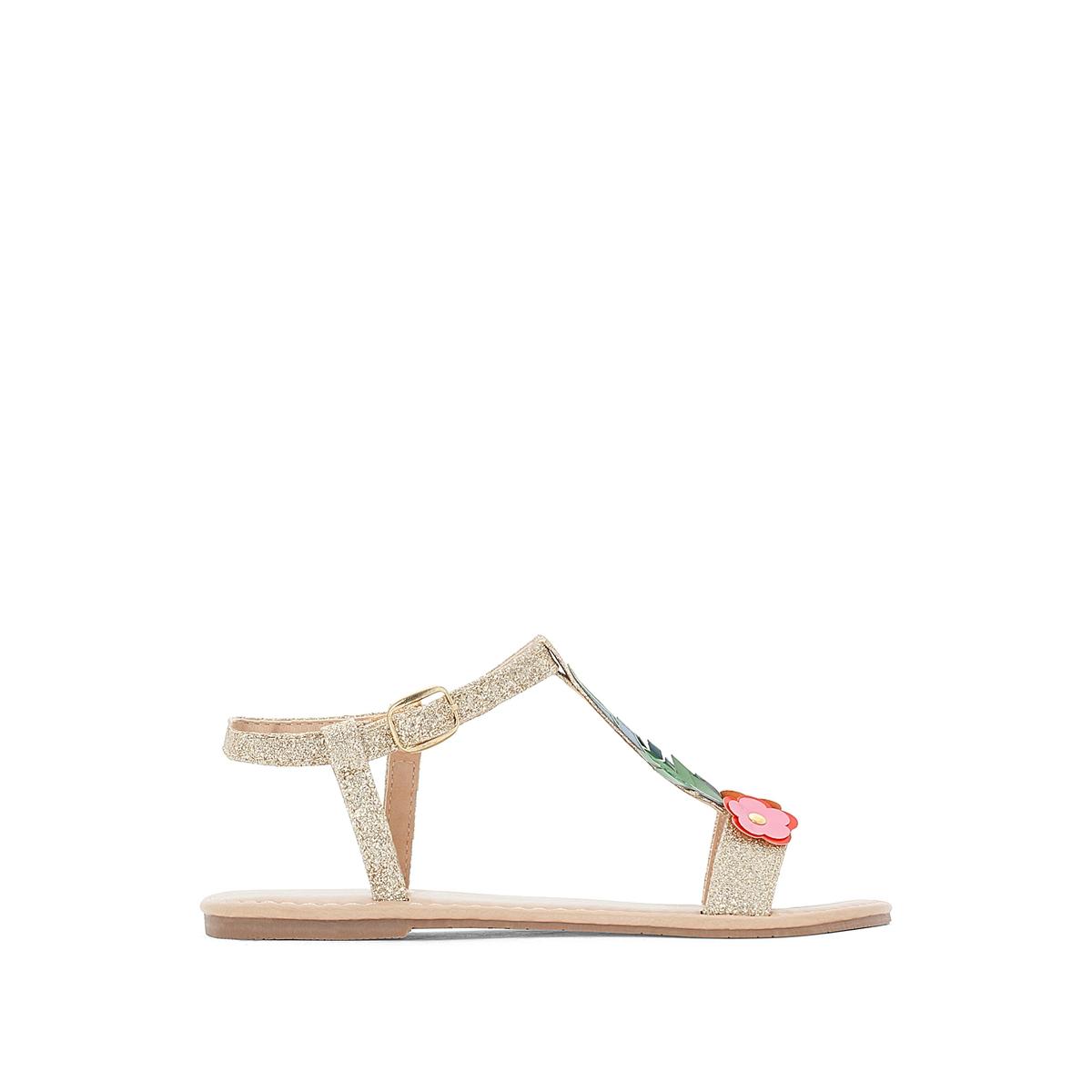 Sandali con paillettes con fiori 28-35