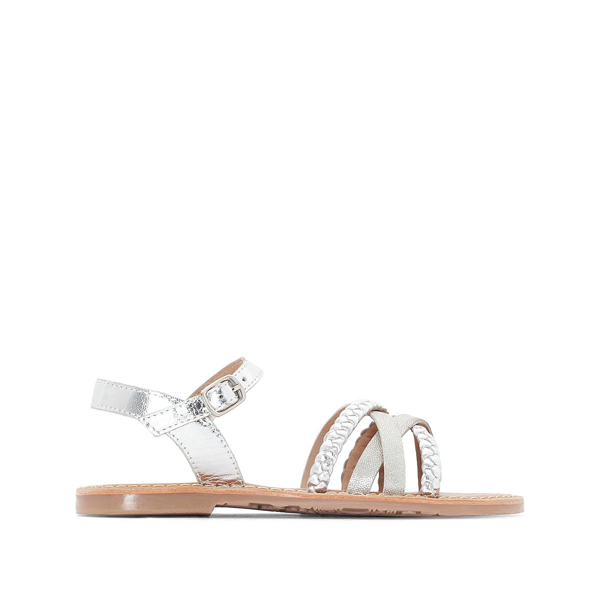 Sandali con cinturini metalliscenti 26-39