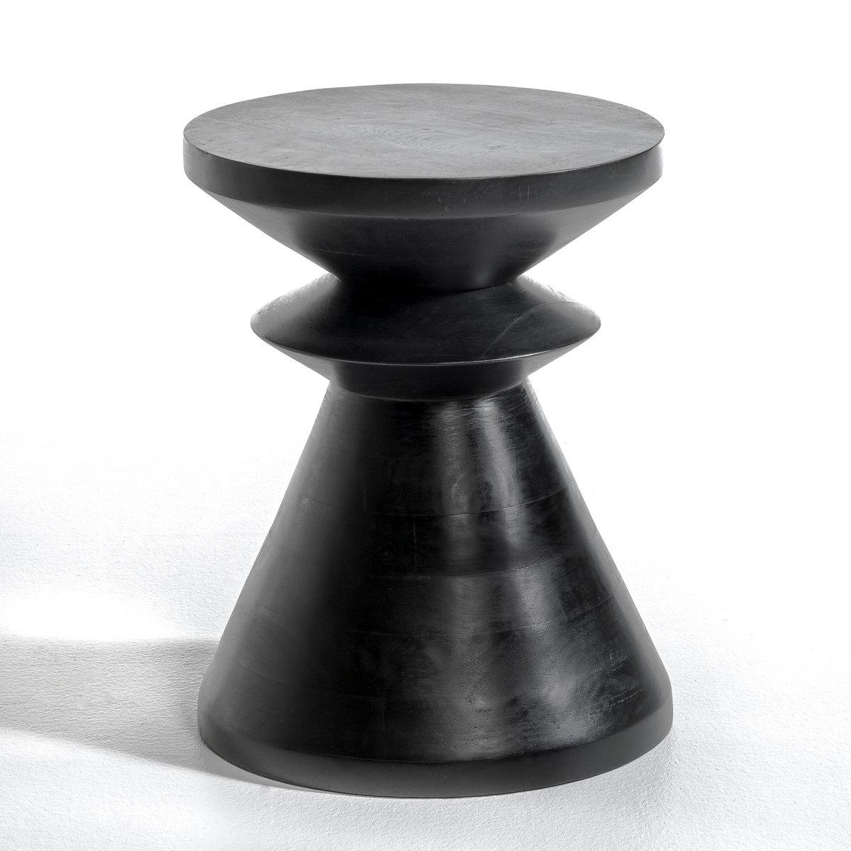 Столик, AlbanСтолик Alban. Графический дизайн... Можно использовать отдельно или в сочетании с другими моделями из нашей коллекции, которые продаются на нашем сайте .Описание : -Из мангового дерева черного цвета . Размеры : - ?35 x 45 см<br><br>Цвет: черный<br>Размер: единый размер