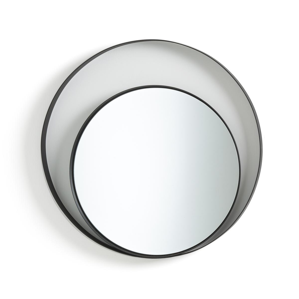 Зеркало La Redoute Круглое с двойным покрытием Palua единый размер черный зеркало круглое alaria