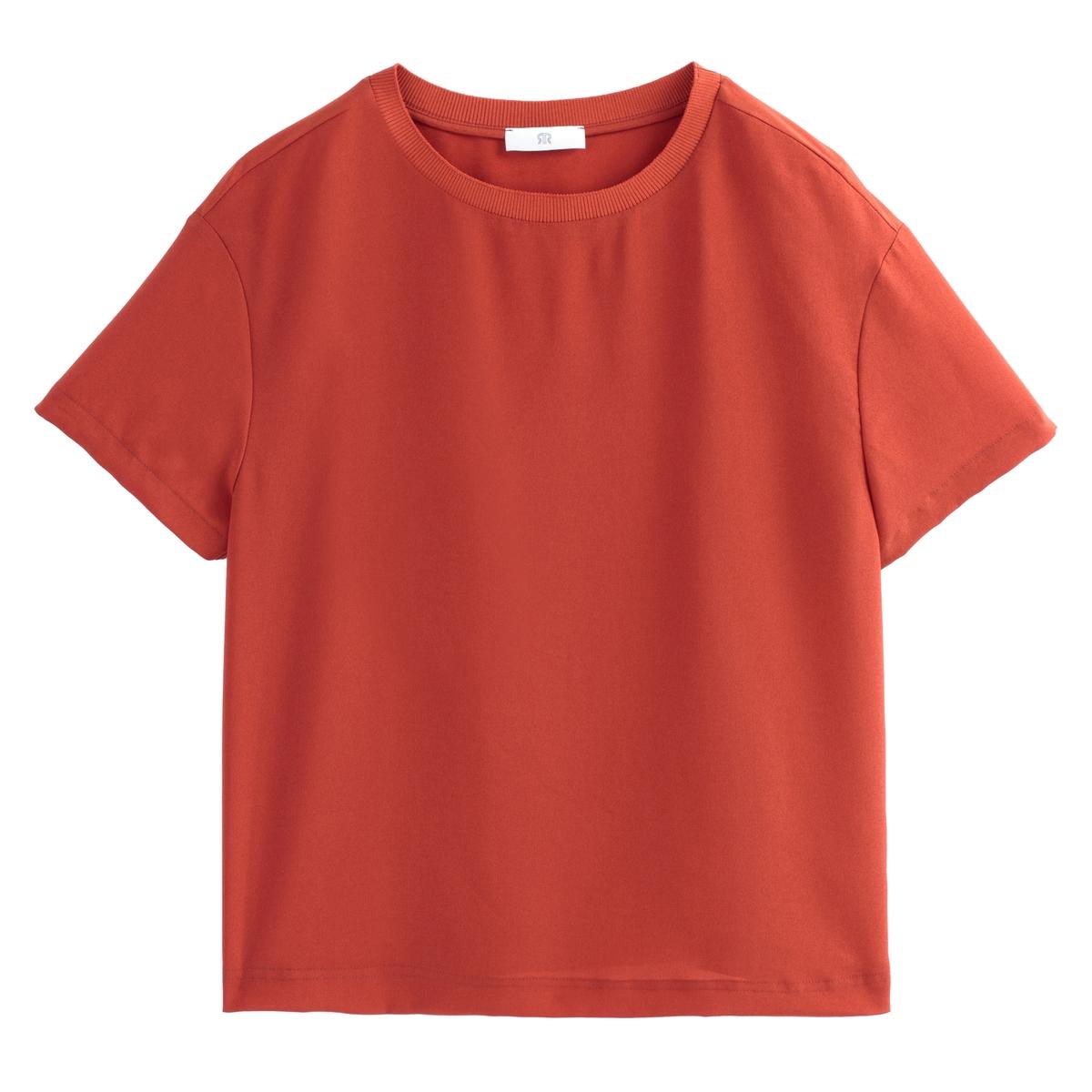 Blusa de manga corta y cuello redondo