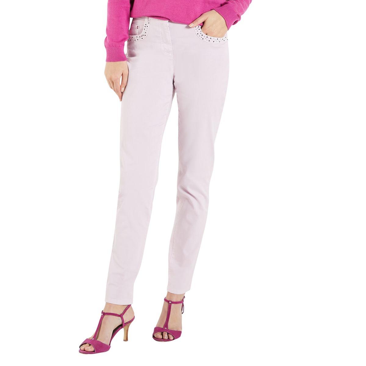 Pantalon 5 poches, strass