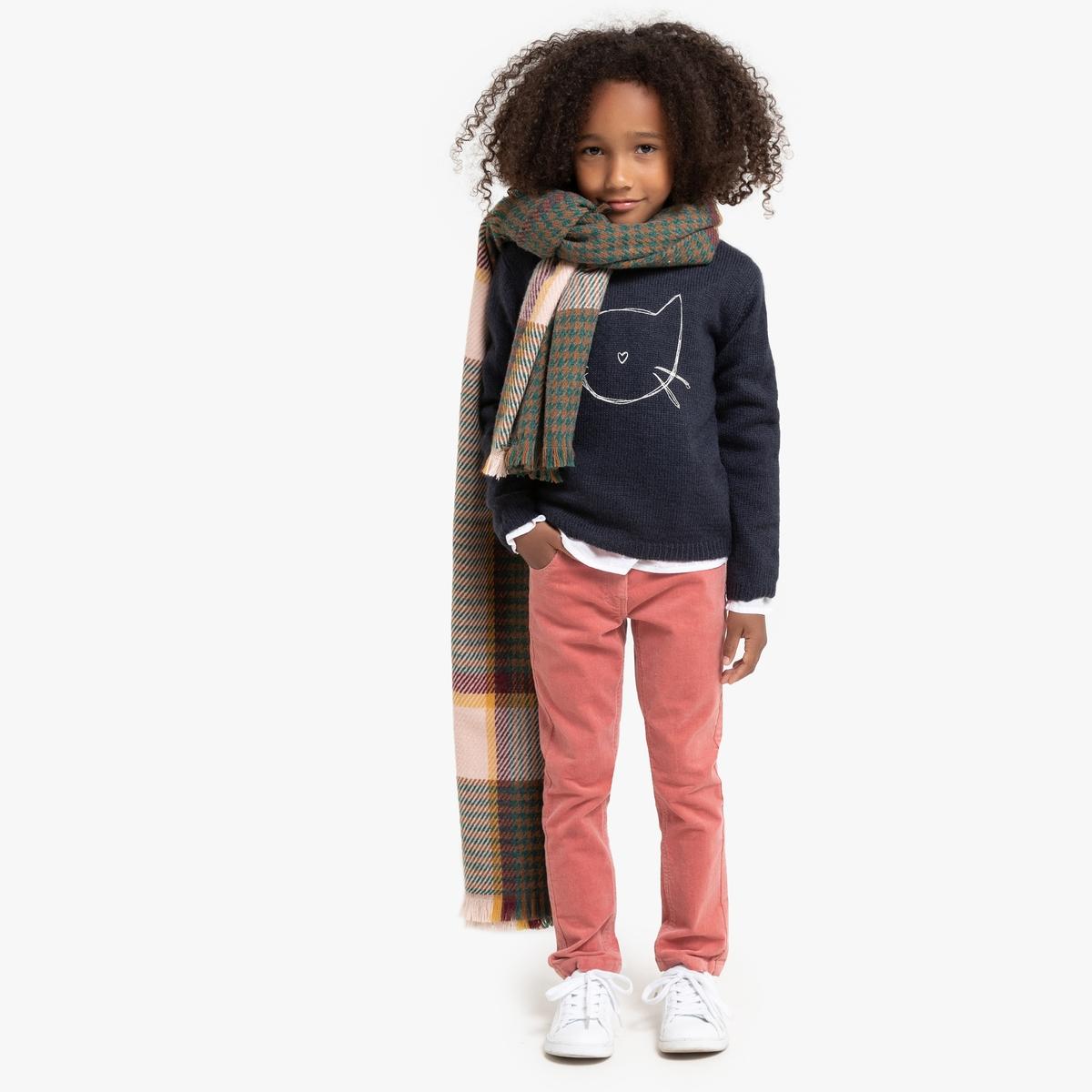 Пуловер La Redoute С круглым вырезом 12 лет -150 см синий пуловер с круглым вырезом 3 12 лет