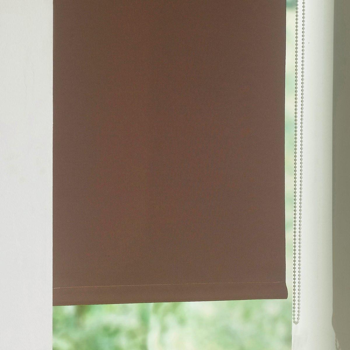 Штора LaRedoute Затемняющая узкая Scenario 170 x 42 см каштановый
