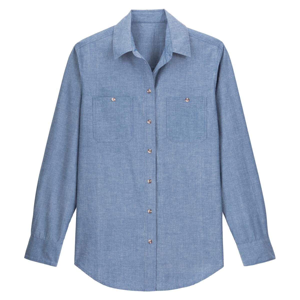 Camisa em puro algodão cambraia, mangas compridas