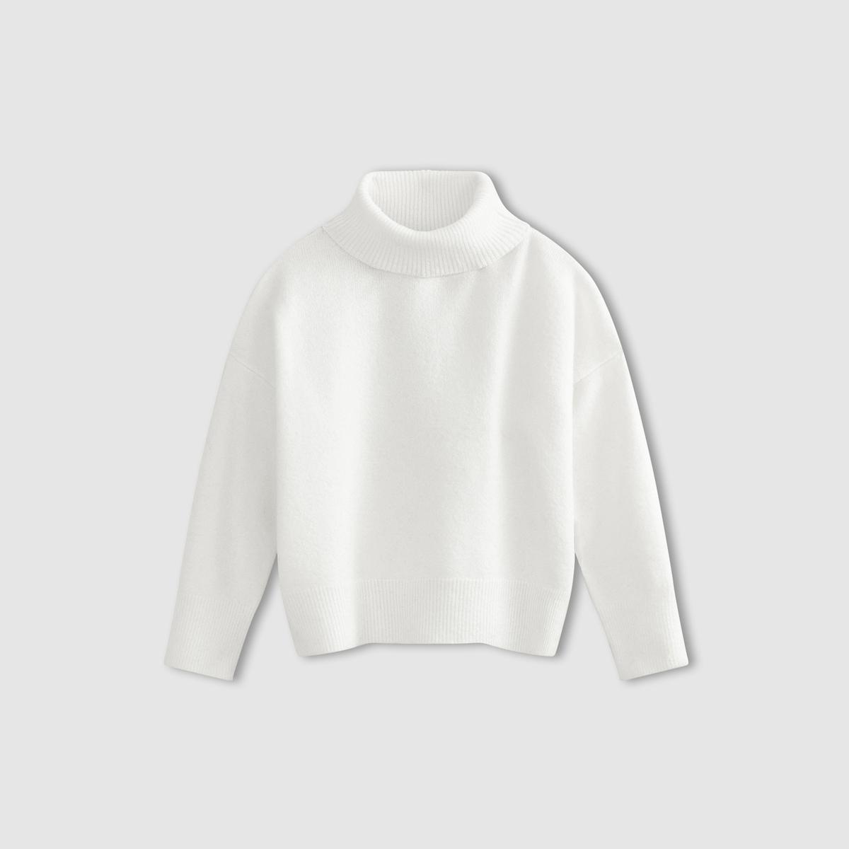 Пуловер с воротником-хомутом PRINCESSEПуловер PRINCESSE от SUNCOO. Воротник хомут. Объемный покрой. Длинные рукава. Отделка в рубчик.           Состав и деталиМатериал        100% акрила     Марка: SUNCOO<br><br>Цвет: экрю<br>Размер: M