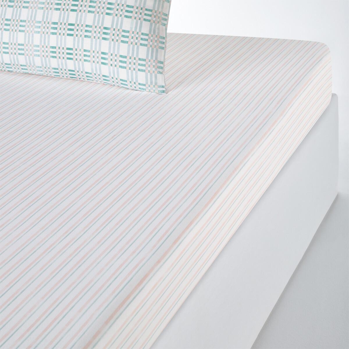 Lençol-capa em puro algodão, Greenery