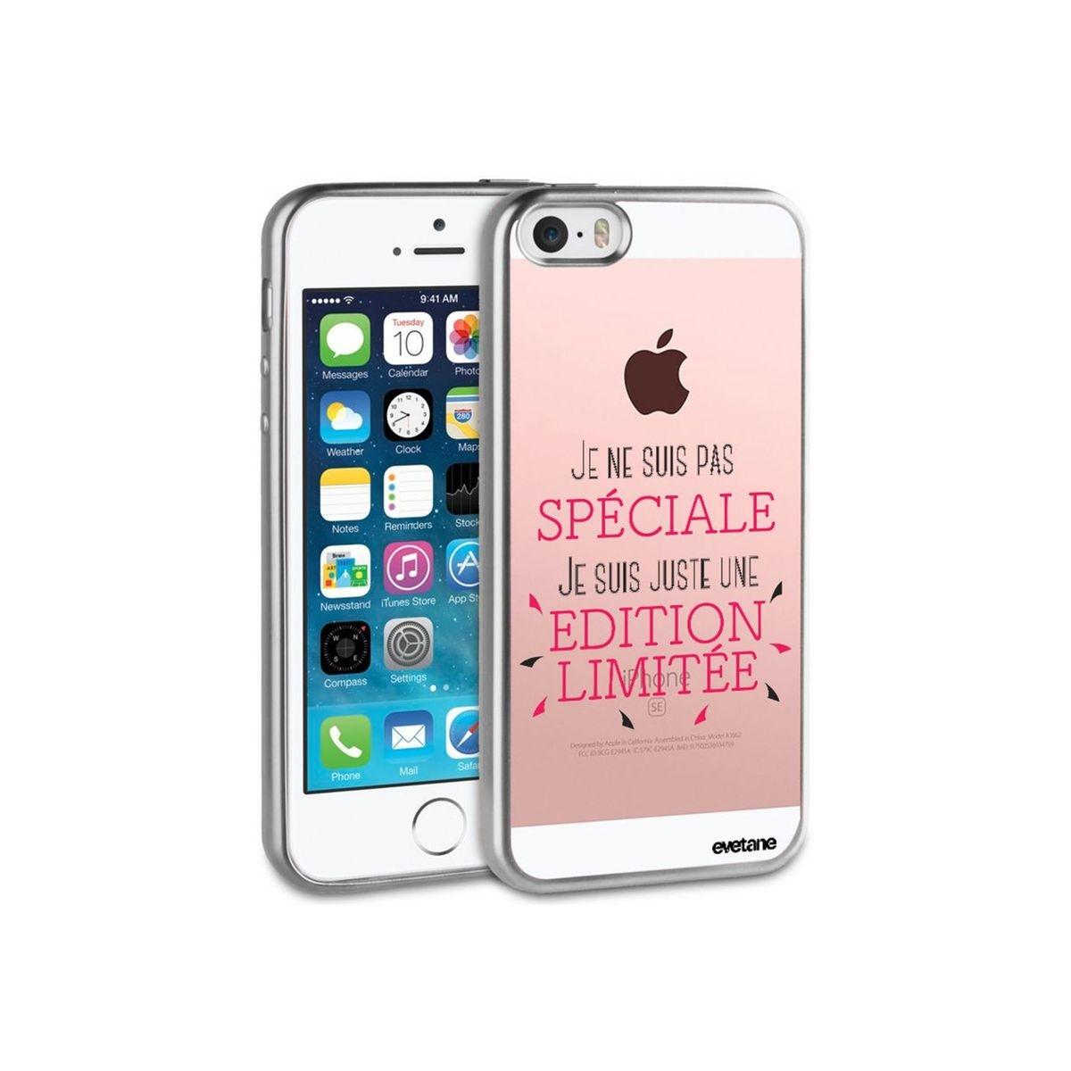 Coque iPhone 5/5S/SE bumper argent, Spéciale édition limitée, Evetane®