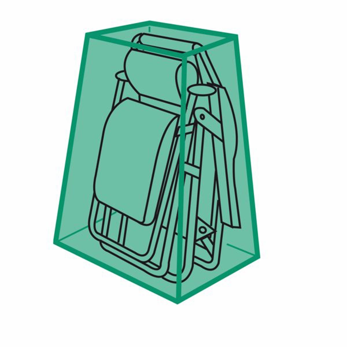 Чехол защитный для креслаЗащитите ваше кресло для отдыха от пыли и неблагоприятных погодных условий с помощью этого очень прочного чехла. Отличается практичностью и легкостью складывания (специально разработанная система складывания чехла).Высокое качество материала, герметичность, неподверженность гниению.Характеристики чехла :- Выполнен из спаянного полиэтилена- Нержавеющие люверсы- Система быстрого складывания- Цвет зеленый полупрозрачныйРазмеры :- Для складного кресла - Размеры. Выс 105 x Дл 95 см<br><br>Цвет: зеленый<br>Размер: единый размер