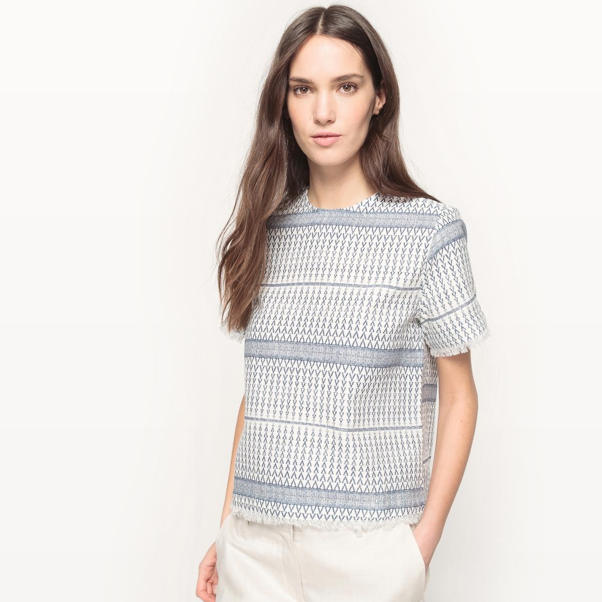 Блузка с зигзагообразным рисунком, прямой покрой пальто длинное с зигзагообразным рисунком
