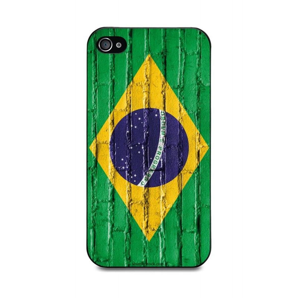 Muvit Coque Noire Bresil Mur Apple Iphone 4S
