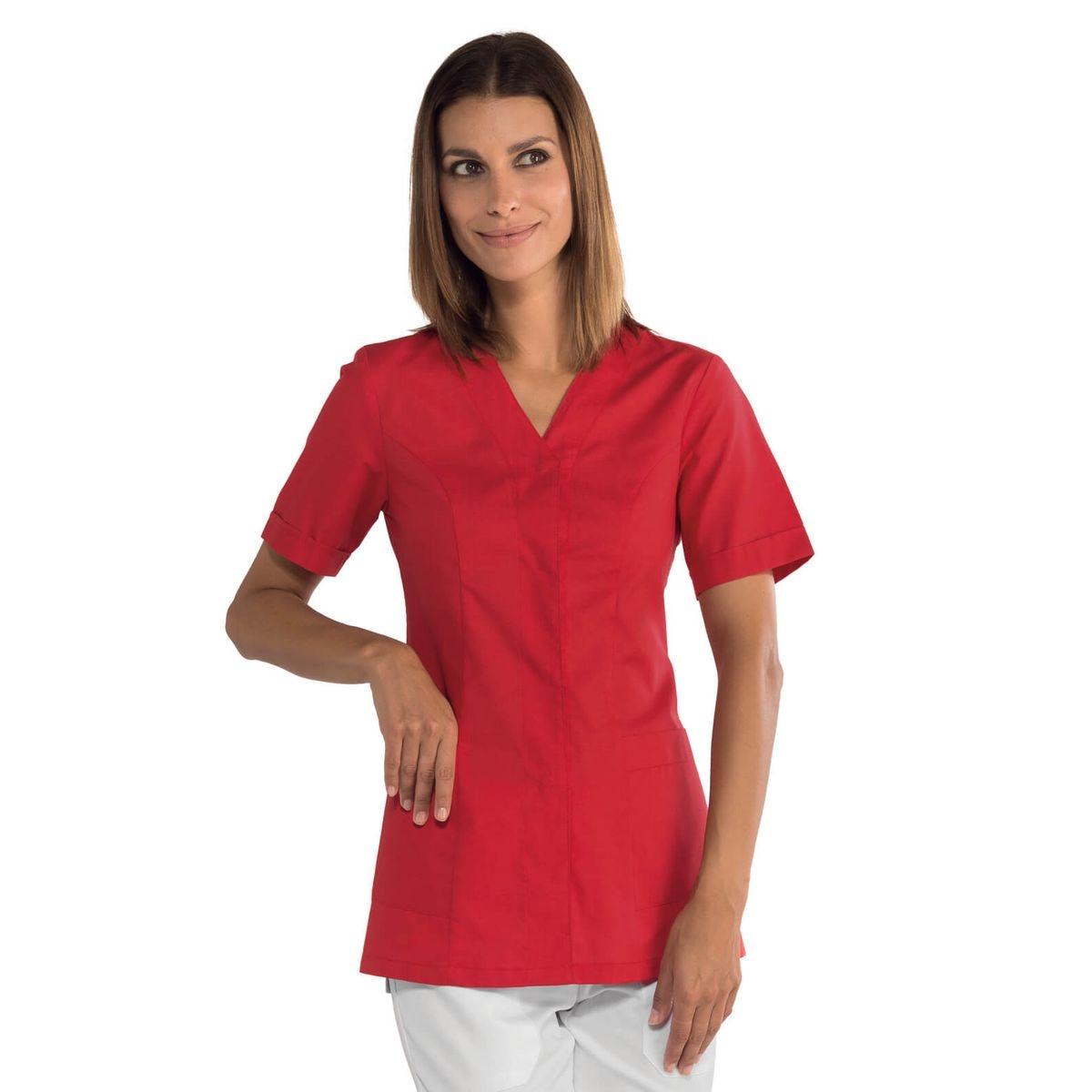 Tunique médicale rouge Sion