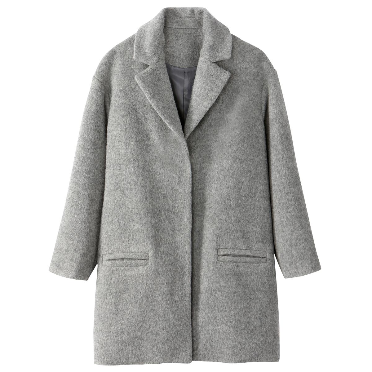 Пальто покроя оверсайз 48 % шерсти с начесом пальто покроя оверсайз 48 % шерсти с начесом
