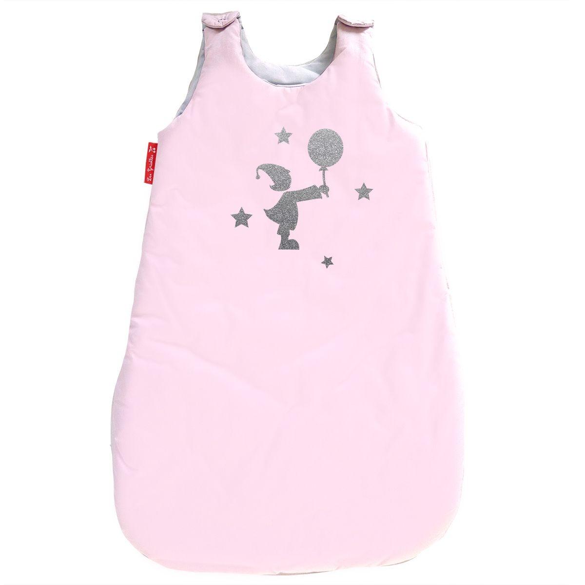 Gigoteuse en coton rose pale 0-6 mois motif fille et ballon