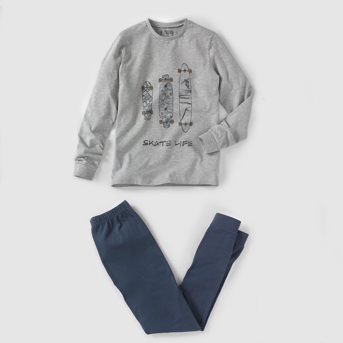 Пижама из джерси с принтом, 10-16 лет