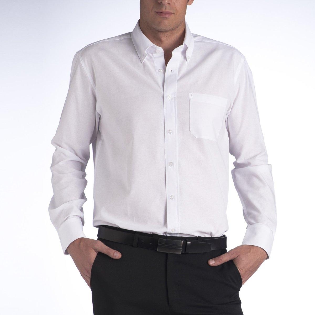 Рубашка однотонная с длинными рукавами от CASTALUNA FOR MEN