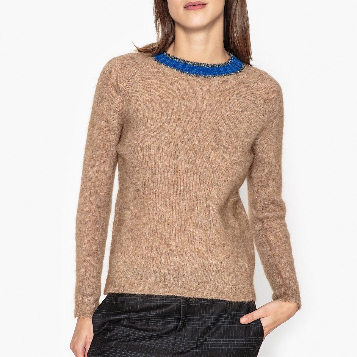 Пуловер из тонкого трикотажа SOLANGEОписание:Пуловер с длинными рукавами MOMONI - модель SOLANGE с контрастными краями на вырезе.Детали •  Длинные рукава •  Круглый вырез •  Тонкий трикотажСостав и уход •  82% альпаки, 2% эластана, 16% полиамида •  Следуйте советам по уходу, указанным на этикетке<br><br>Цвет: бежевый
