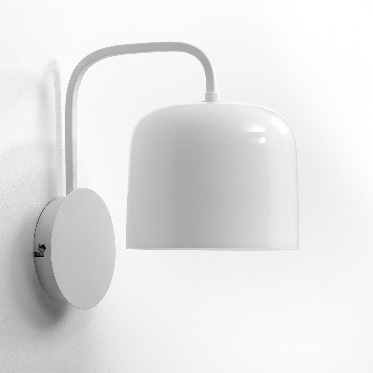 Бра Zella, дизайн Э. ГаллиныПатрон E14 для лампочки макс 40W (не входит в комплект)  .- Размеры. В.28 x Г.20 x Д.18 см.Этот светильник совместим с лампочками    энергетического класса   A, B, C, D, E .<br><br>Цвет: белый