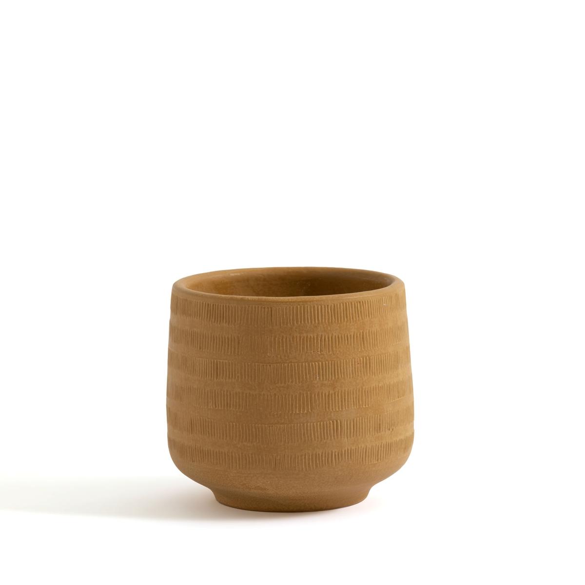 Кашпо La Redoute Из керамики Kira единый размер желтый кашпо la redoute из керамики в см euphyllia единый размер синий