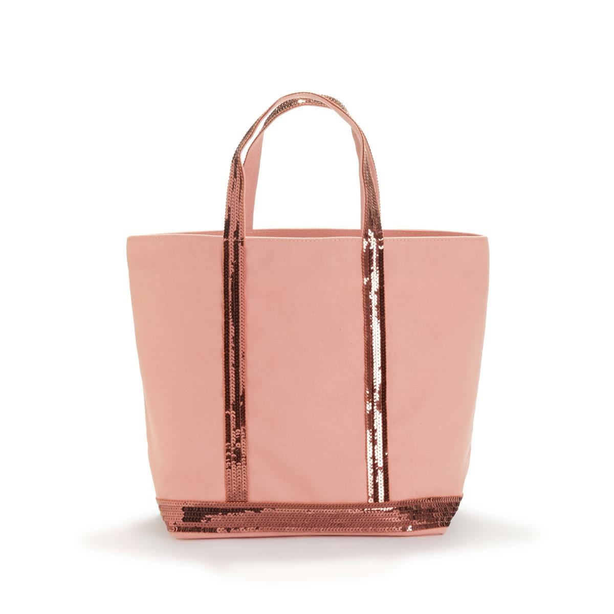 Сумка-шоппер La Redoute Среднего размера из ткани с блестками единый размер розовый
