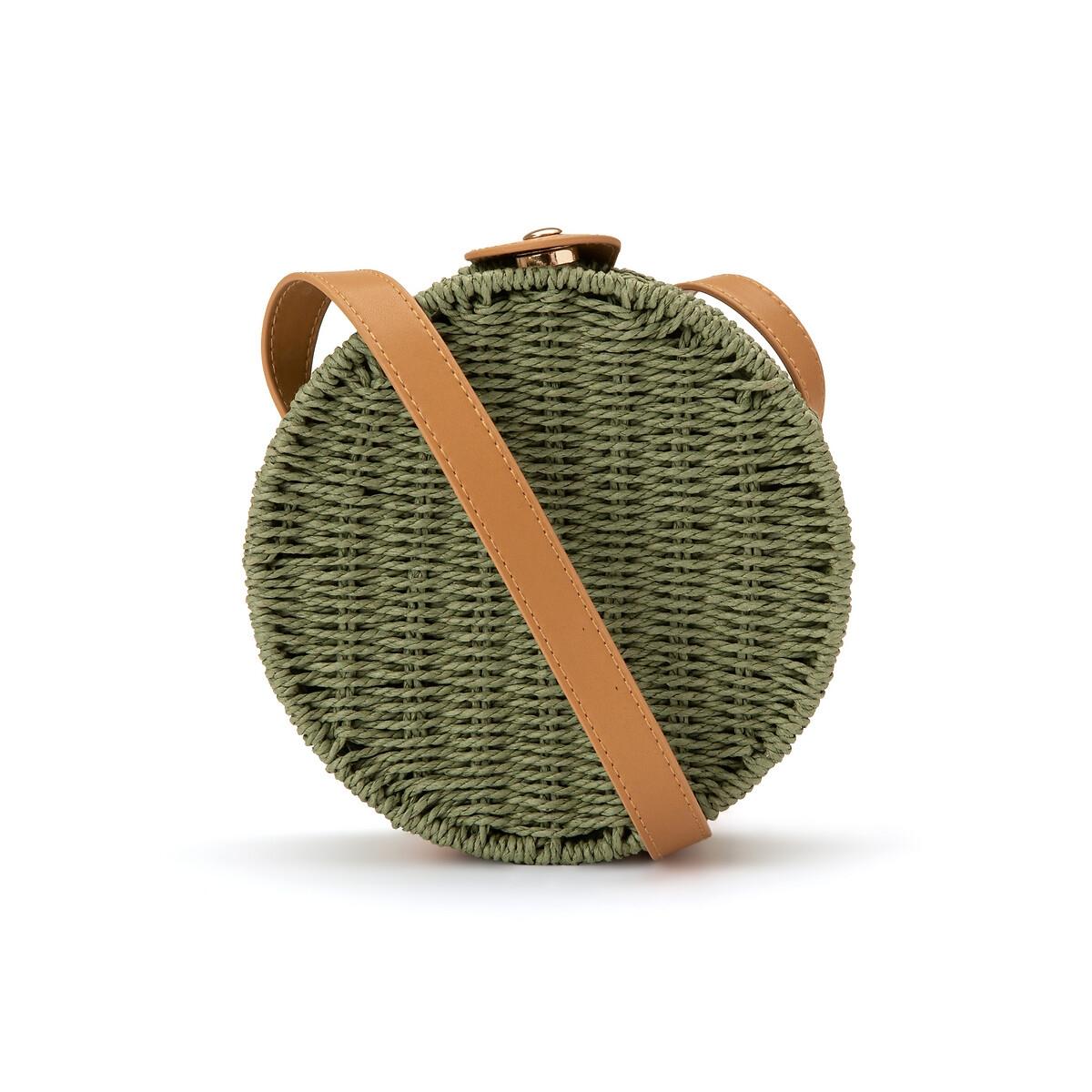 Сумка La Redoute С ручками круглая единый размер зеленый сумка la redoute кожаная sunny foil единый размер синий