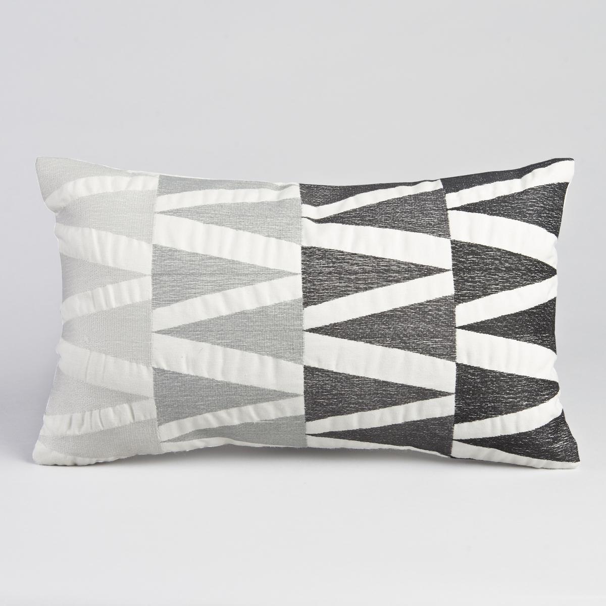 Чехол для подушки NorigПринт - геометрический рисунок.  Застежка на молнию. Материал :- 100% хлопка.Размер :- 50 x 30см.<br><br>Цвет: синий