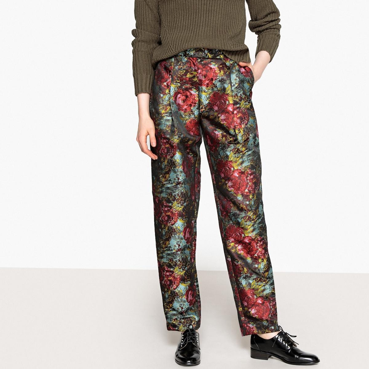 Брюки узкие, дудочки с жаккардовым принтом брюки узкие дудочки