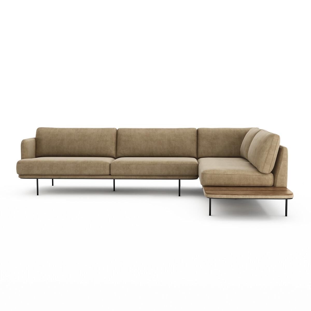 Canapé d'angle Velours Luxe Contemporain Confort