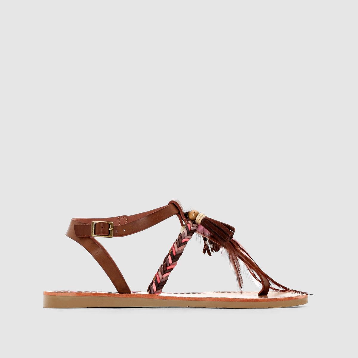 Сандалии с перемычкой между пальцами, на плоском каблуке, MELROSE