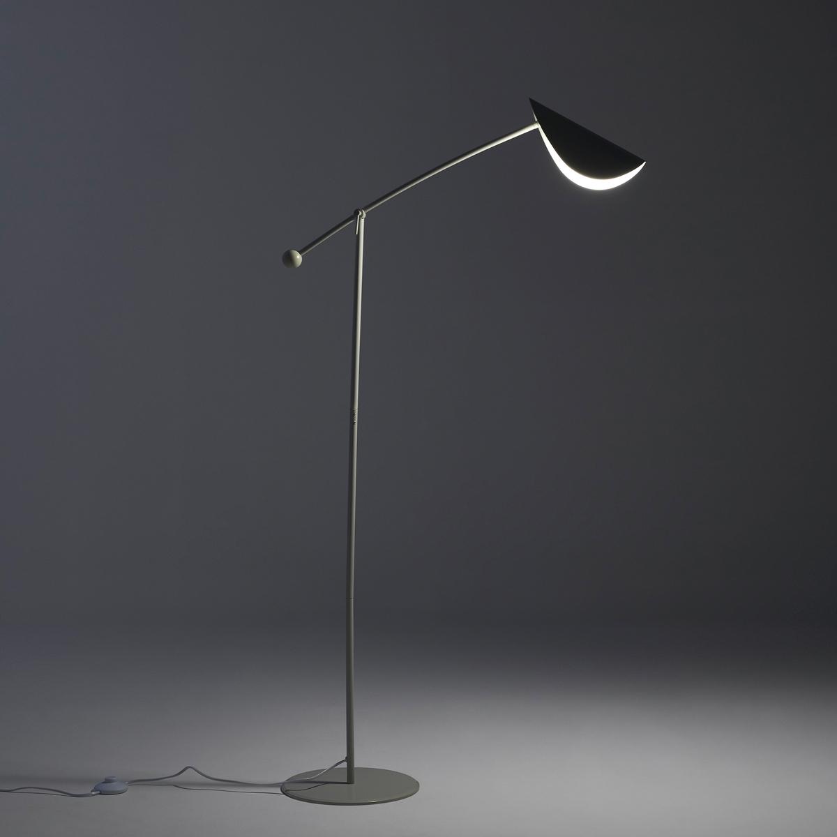 Напольная лампа FunambuleНапольная лампа Funambule. Тонкая и воздушная форма, вдохновленная движущимися объектами и природой, поворачивающийся абажур в форме листа. Напольная лампа для направленного освещения, идеально подходит для чтения.Характеристики :Из металла с матовым эпоксидным покрытием- Цоколь E14 для флуоресцентных ламп макс. 8 Вт (продаются отдельно)- Совместима с лампами класса энергопотребления A Размеры :- 77 x 123 см- Основание ?28 см<br><br>Цвет: серо-бежевый,черный