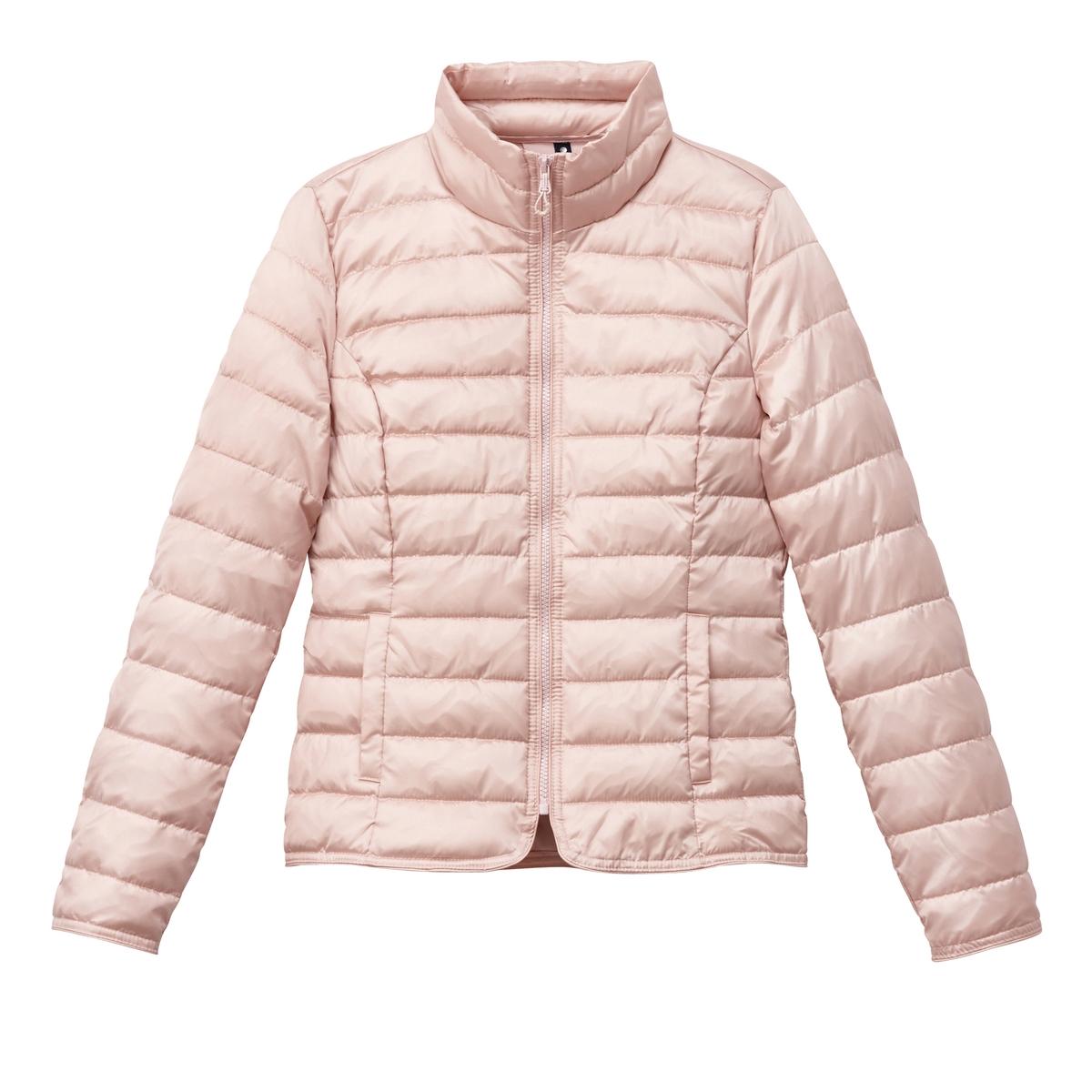 Куртка стеганаяОписание:Детали •  Длина  : укороченная   •  Воротник-стойка •  Застежка на молниюСостав и уход •  100% полиамид •  Следуйте рекомендациям по уходу, указанным на этикетке изделия<br><br>Цвет: бледно-розовый,серебристый<br>Размер: XS.M.M.S.S.L.L.XS