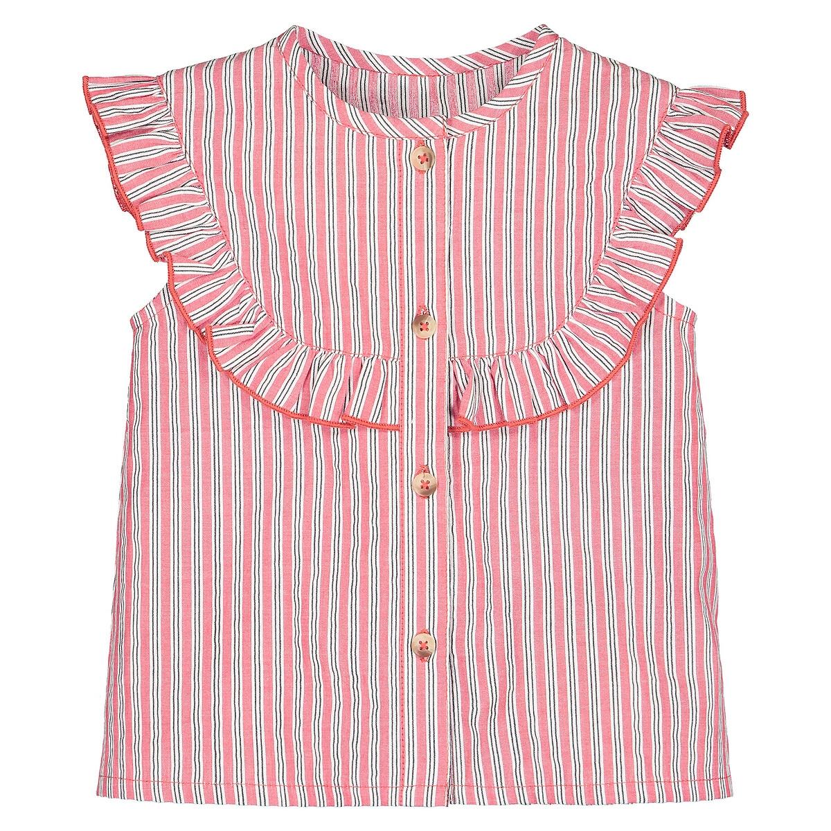 Блузка LaRedoute В полоску без рукавов 1 мес - 3 года 9 мес. - 71 см другие брюки laredoute из мольтона с бантом 1 мес 3 года 9 мес 71 см розовый