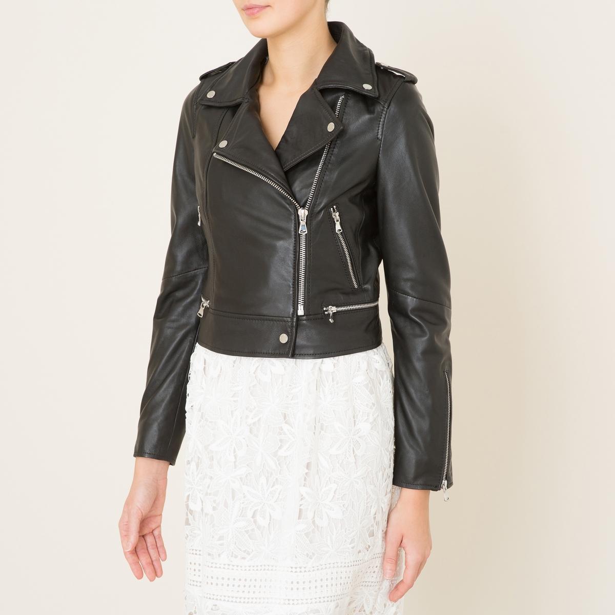 Блузон короткий в байкерском стиле YOKO пальто в байкерском стиле oasis пальто в байкерском стиле