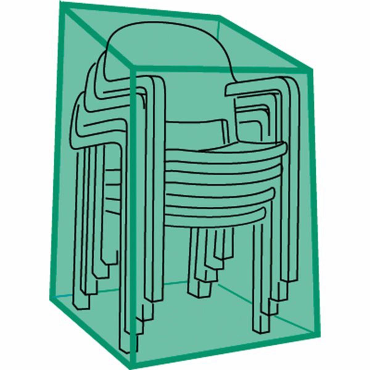 Чехол специальный для стульев и креселЗащитите вашу садовую мебель от пыли и неблагоприятных погодных условий с этим очень прочным чехлом . Отличается практичностью и легкостью складывания (специально разработанная система складывания чехла). Высокое качество материала, герметичность, неподверженность гниению. Описание чехла :- Выполнен из сварного полиэтилена- Нержавеющие отверстия для крепления- Система быстрого складывания- Цвет зеленый полупрозрачныйДля 6 стульев или 4 кресел<br><br>Цвет: зеленый