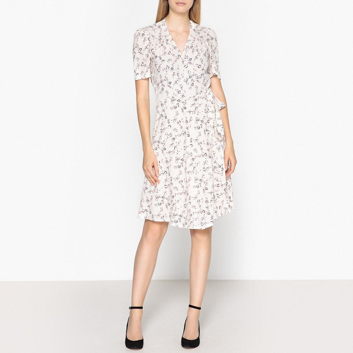 Платье с запахом  рисунком CHICAMA