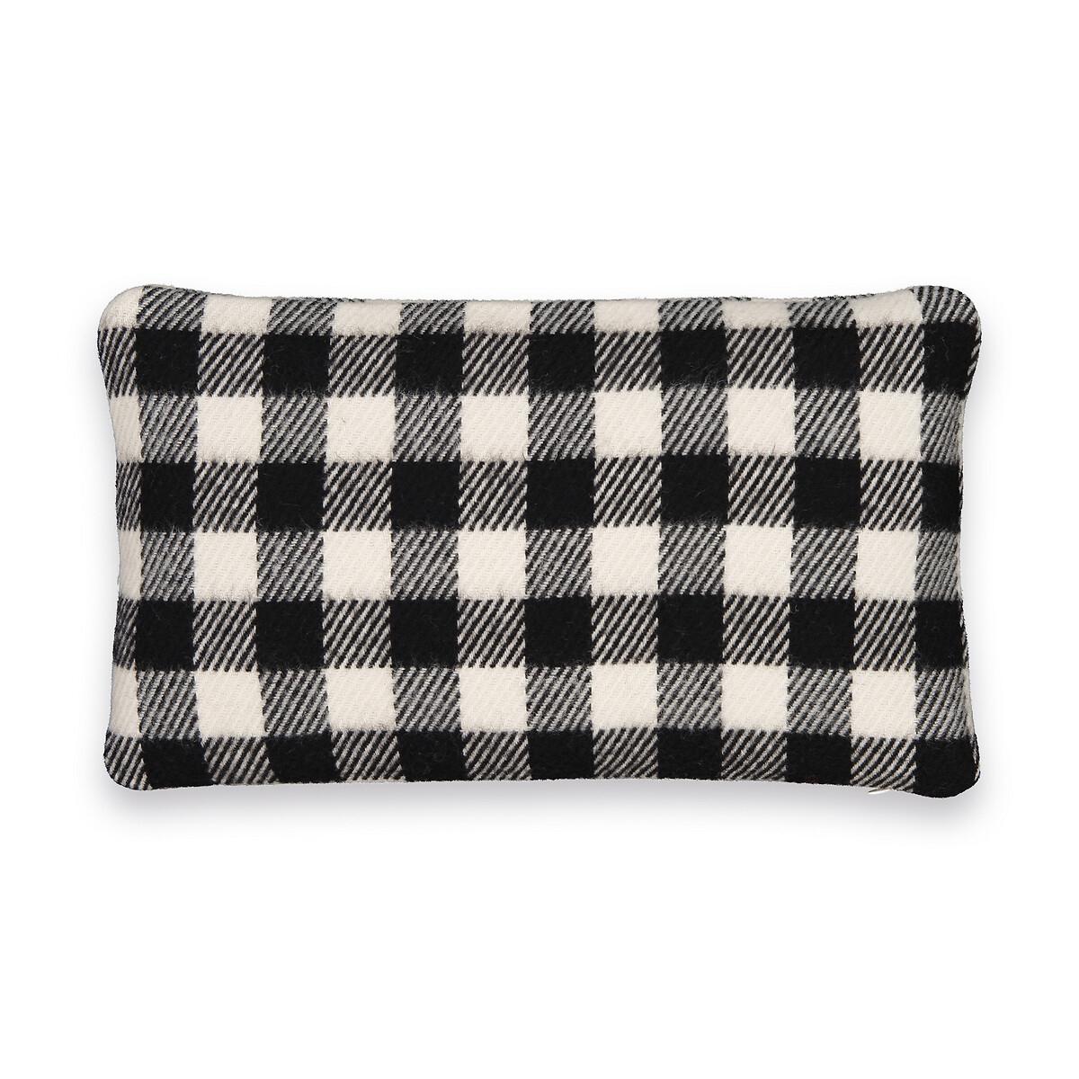 Чехол LaRedoute На подушку из шерсти Alpy 50 x 30 см черный
