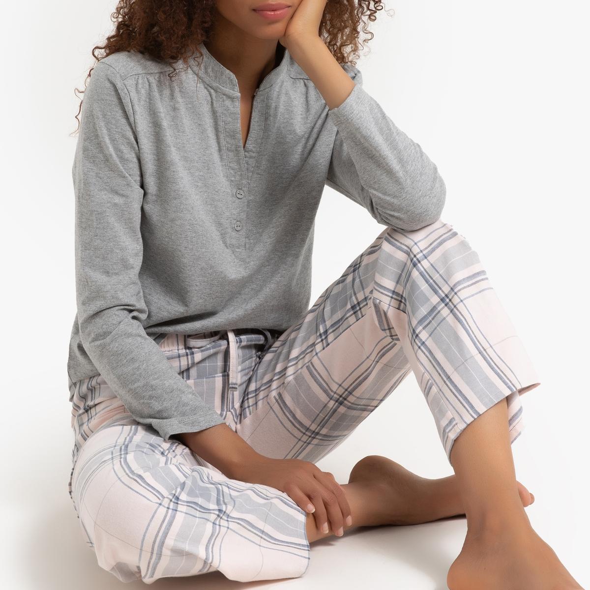 Pijama de dos tejidos