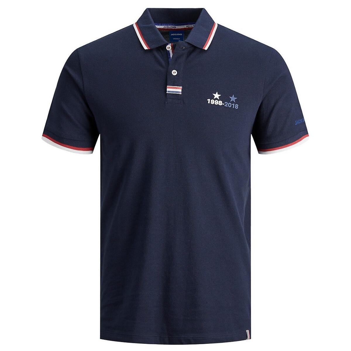Футболка-поло LaRedoute Из трикотажа пике Jorclement Euro S синий футболка поло la redoute из трикотажа пике shaker xxl синий