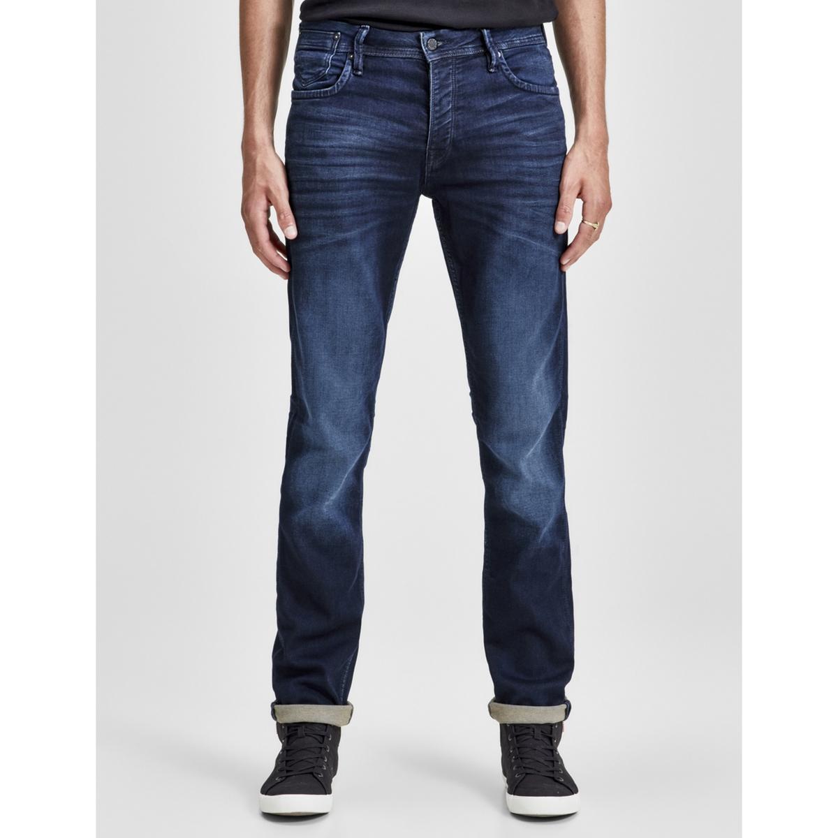 Slim-Fit-Jeans JJITIM JJLEON| Five-Pocket-Form| Stretch | Bekleidung > Jeans > Slim Fit Jeans | Blau | Elasthan | JACK & JONES