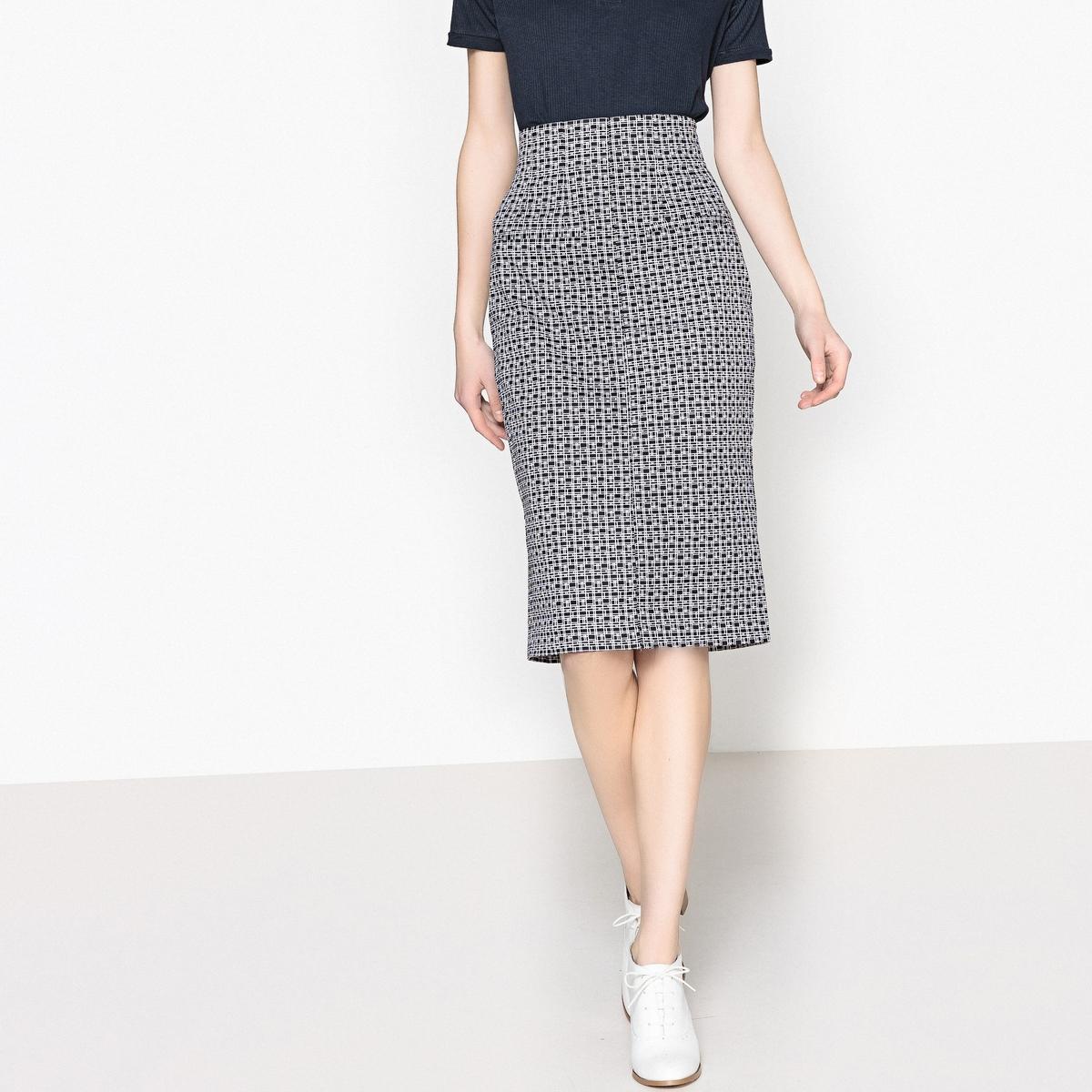 Falda de tubo con estampado geométrico