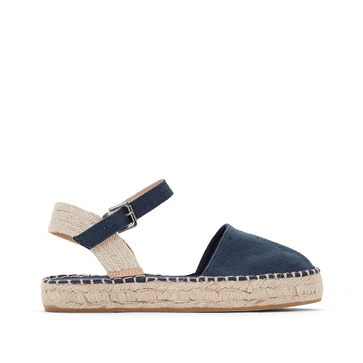 Туфли полотняные OliviaВерх: хлопок.Стелька:Подошва:     Высота каблука: 2 см.Форма каблука: плоский каблук.Мысок: закругленный.Застежка: пряжка.<br><br>Цвет: синий морской<br>Размер: 40